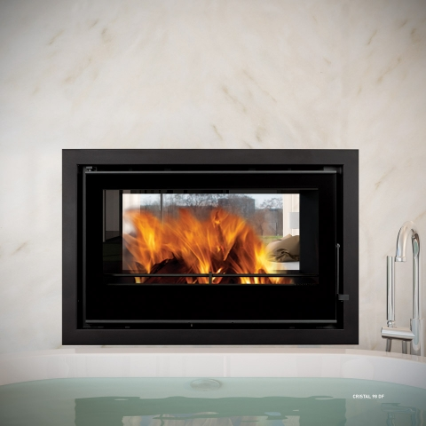 Crystal 98 DF Duplex Double Sided Inset Stove
